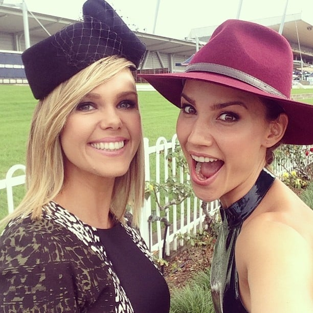 Edwina Bartholomew and Rachael Finch were all smiles today! Source: Instagram user rachael_finch
