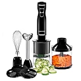 Chefman Immersion Blender and Electric Spiralizer 6-in-1 Food Prep Kit