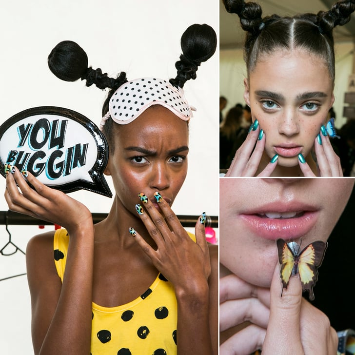 Butterflies and Ladybird Buns at Sophia Webster Spring 2014