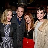 Amanda Seyfried, Eddie Redmayne, Isla Fisher, and Anne Hathaway partied at a separate Vanity Fair celebration for Les Misérables on Wednesday in LA.