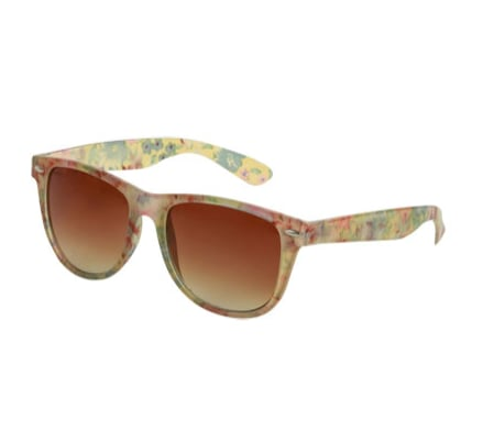 If you can't commit to flower-printed denim, then inject a little of the season's must-have florals into your shades.