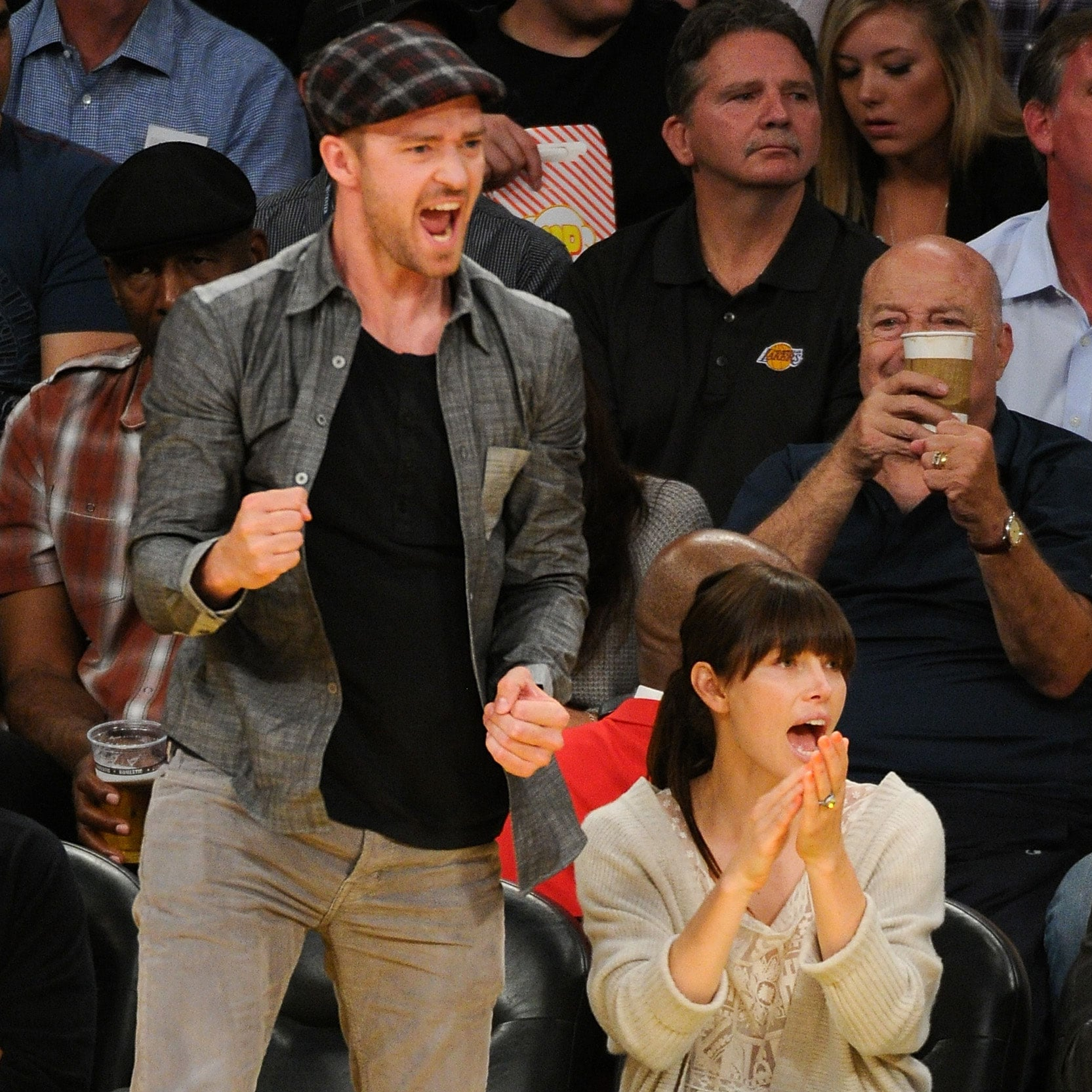 Celebrities At Basketball Games images