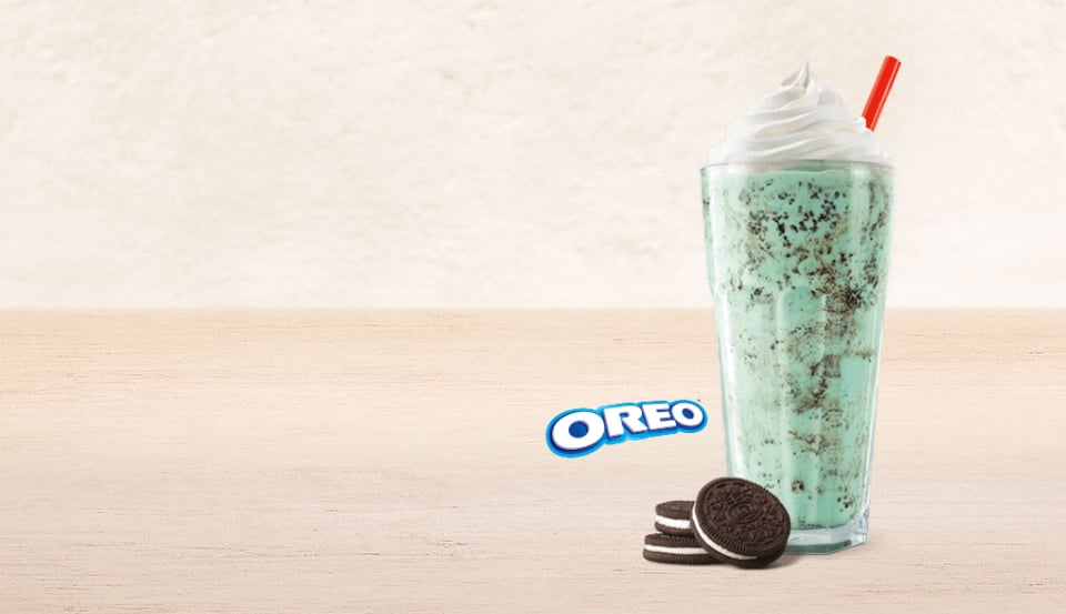 Burger King Oreo Mint Shake POPSUGAR Food