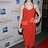 Ashley Greene wore red for a Breaking Dawn Part 1 premiere in Toronto.