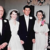 Phyllis with Julia's grandfather Harold on their big day.