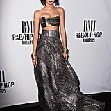 Zendaya went for a military-inspired look in a crop top, maxi skirt, and hat  at the BMI R&B/Hip-Hop Awards in 2014.