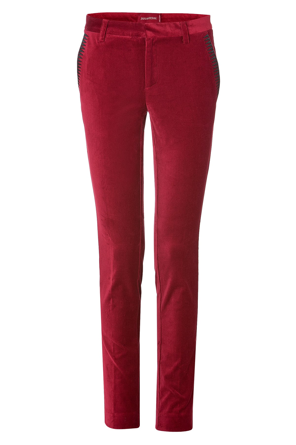 Zadig Voltaire Red Velvet Pants 206 Originally 295 Olivia Palermo S Outfit Shouldn T Work But It Does Popsugar Fashion Photo 4