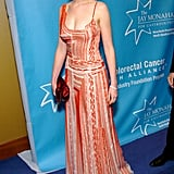 A printed maxi for a benefit in April 2004 hinted at coming change in her style.