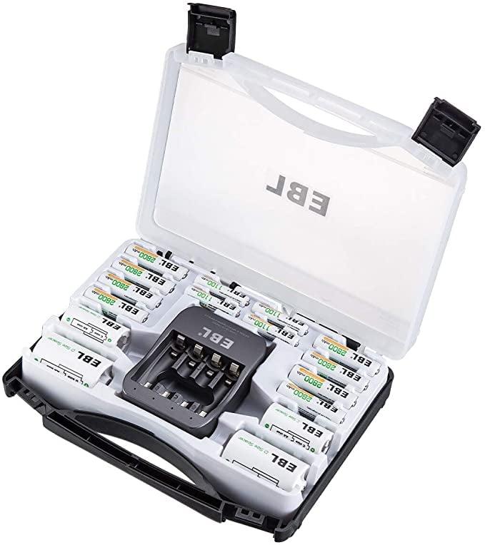 EBL Rechargeable Black Batteries Box