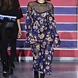 Her second look was this chiffon floral dress.