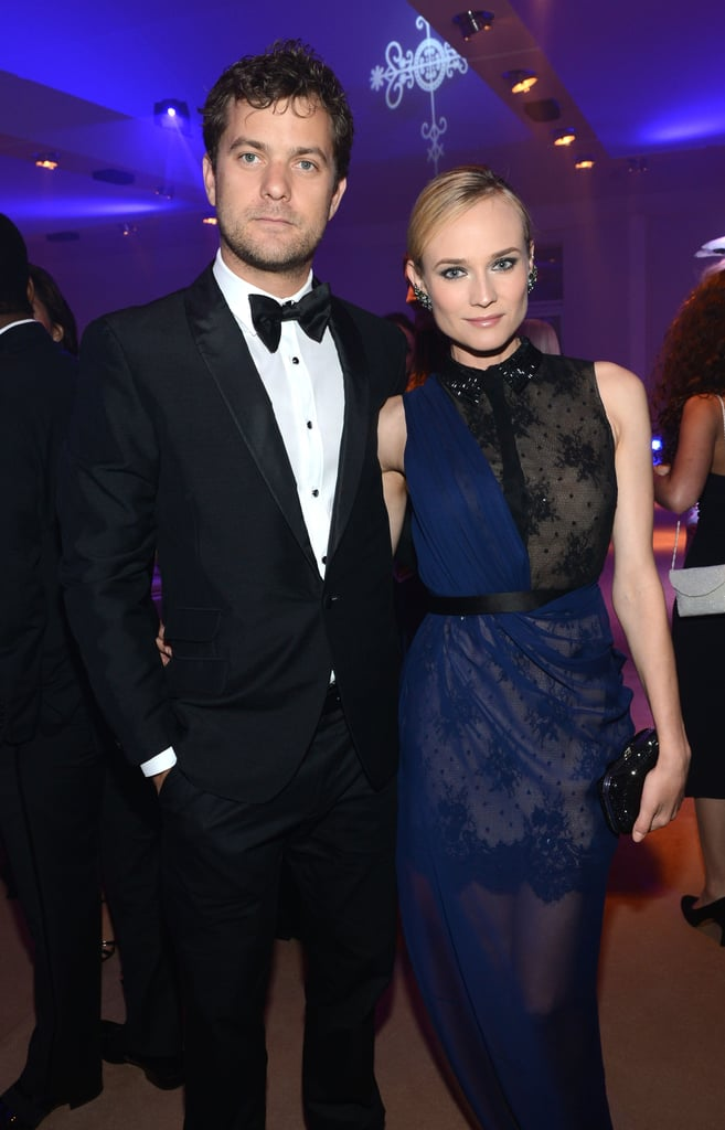 Joshua Jackson and Diane Kruger posed together inside the Haiti: Carnival in Cannes event.