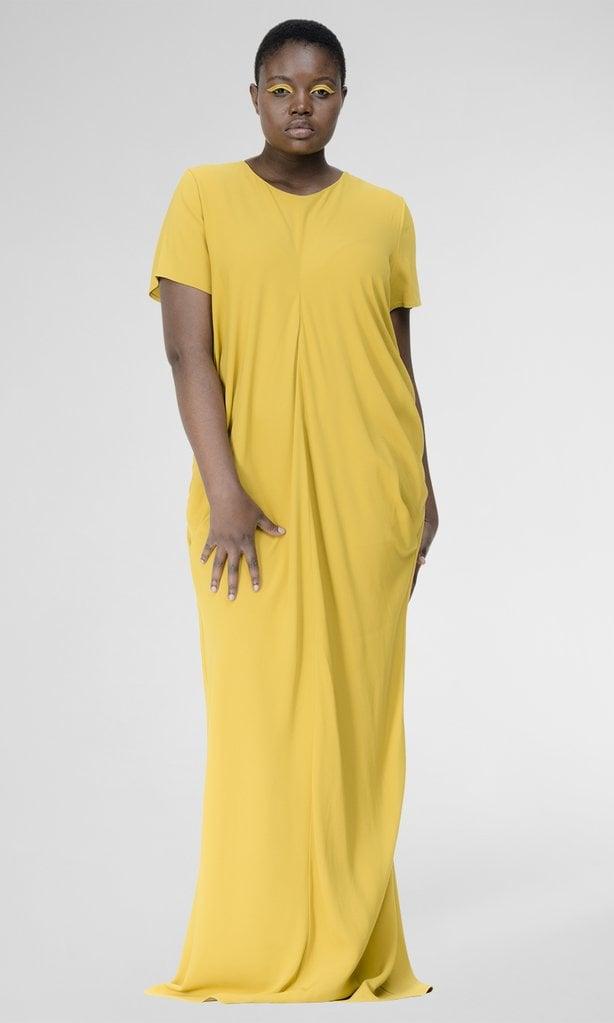 Universal Standard Regina Gown in Mustard