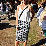 When you're shopping for a festival, H&M is hard to top. That's why this stylish attendee bought her head-to-toe look at the retailer.