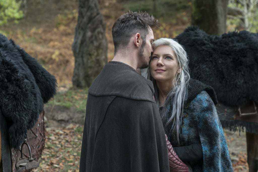 "Vikings has returned for the second half of its fifth season, and while there have already been a few ups and downs (and bloodshed, as per usual), it looks like things are going to take a seriously romantic turn.  In exclusive photos from the Dec. 5 episode, ""Murder Most Foul,"" Lagertha (Katheryn Winnick) sidles up to Bishop Heahmund (Jonathan Rhys Meyers). Seeing her share a passionate kiss with Heahmund's character is exciting for a number of reasons, but chief is that few people are more deserving of happiness than Lagertha. She's lost some of her greatest loves, including Ragnar (Travis Fimmel) and Astrid (Josefin Asplund), which has left her cold to the prospect of moving forward with someone new. But will this religiously devout man be the one who breaks her shell? It certainly seems so. Whether you're voting for him to be her soulmate or not, get a sneak peek at their steamy connection ahead.      Related:                                                                                                           6 Shows to Watch If You Love (and Miss) Game of Thrones"