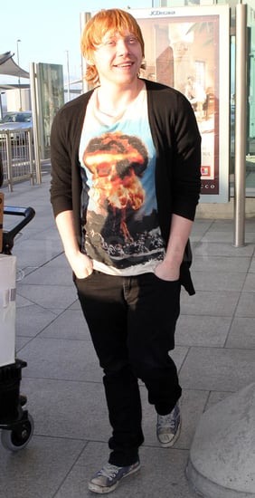 Pictures of Rupert Grint at Heathrow Airport Harry Potter and the Deathly Hallows Promotion in Japan