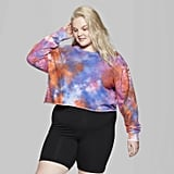Target Plus Size Long Sleeve Cropped Crewneck Tie Dye Sweatshirt