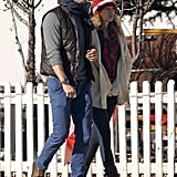 Ryan Reynolds was all smiles while walking with his wife, Blake Lively, through Aspen, Colorado.
