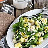 Jicama and Pineapple Spinach Salad