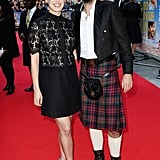 Rosamund Pike and David Tennant posed on the red carpet at the London premiere of What We Did on Our Holiday on Monday.