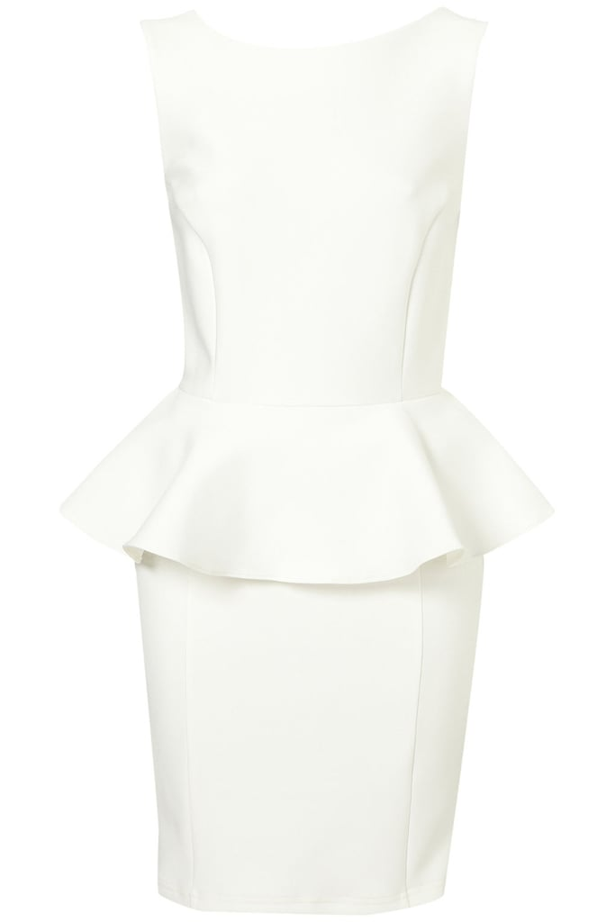 Topshop Peplum Scuba Pencil Dress ($96)
