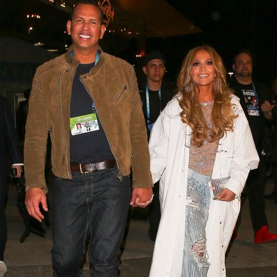 Jennifer Lopez's Rhinestone Jeans at Super Bowl With ARod