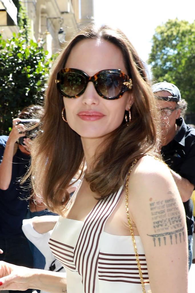 Angelina Jolie Dark Brown Hair Summer