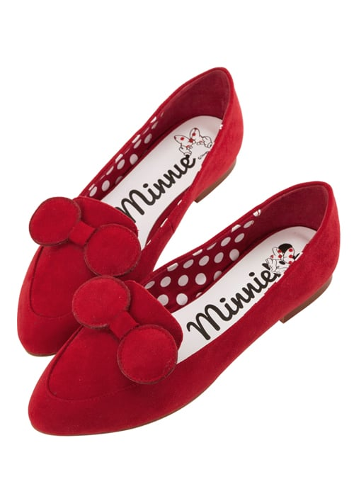 Minnie Mouse Bow Tie Loafers in Red ($48)