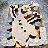 This adorable Olaf cupcake arrangement was ordered at the local Publix grocery story bakery. It turned out perfectly!