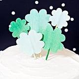 Shamrock Cupcake Toppers