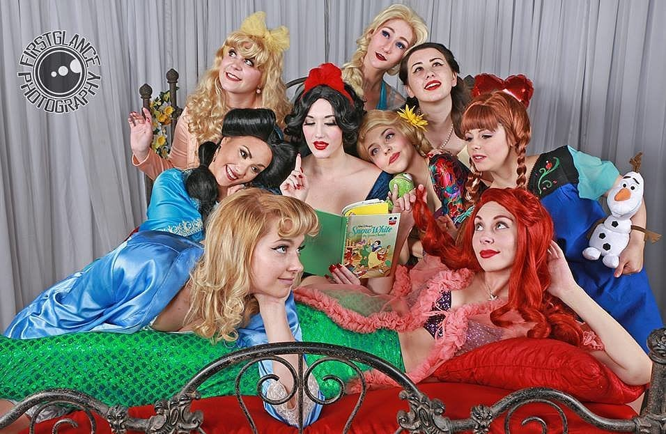 Disney Princess Pinup Girl Photos