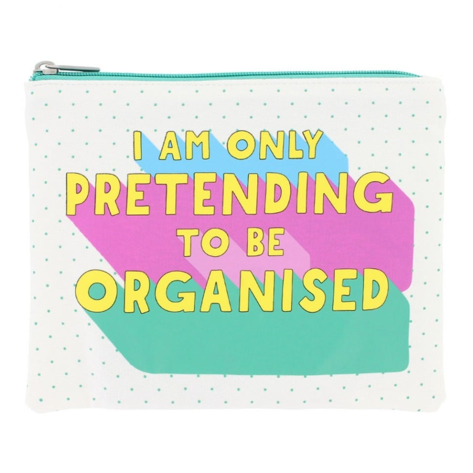 Paperchase I Am Only Pretending To Be Organised Pouch ($17)