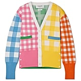 Thom Browne Paneled Gingham Knitted Cardigan