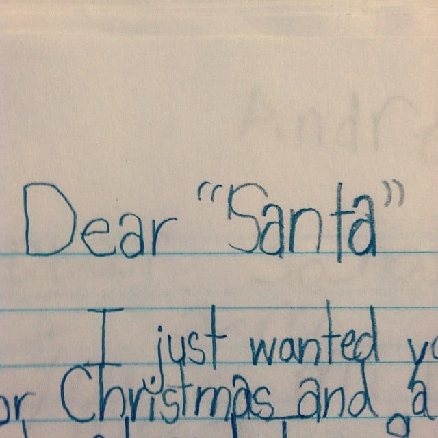 funny notes kids write santa claus - Funny Christmas Letters