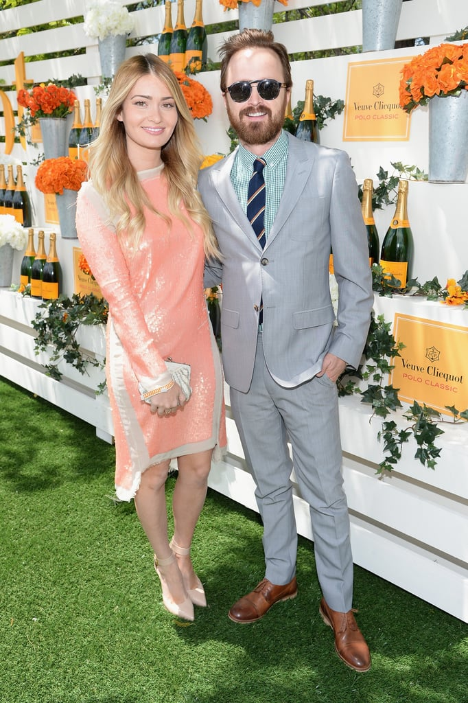 Aaron and wife Lauren Parsekian turned the event into a photo-worthy daytime date.