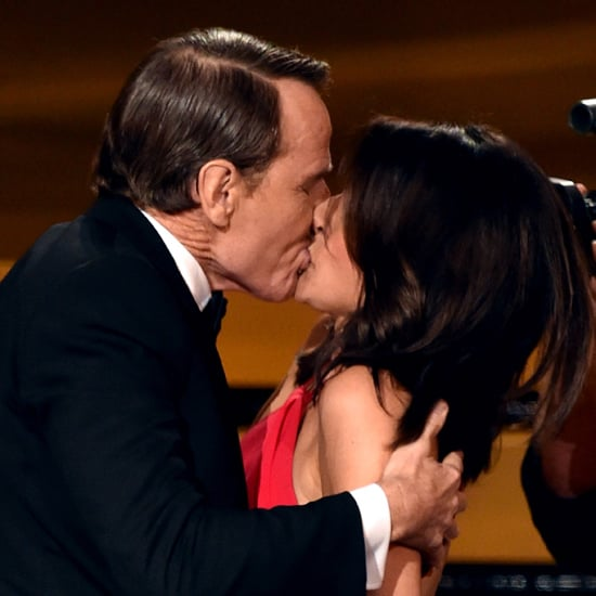 Bryan Cranston Kisses Julia Louis-Dreyfus at the Emmys 2014