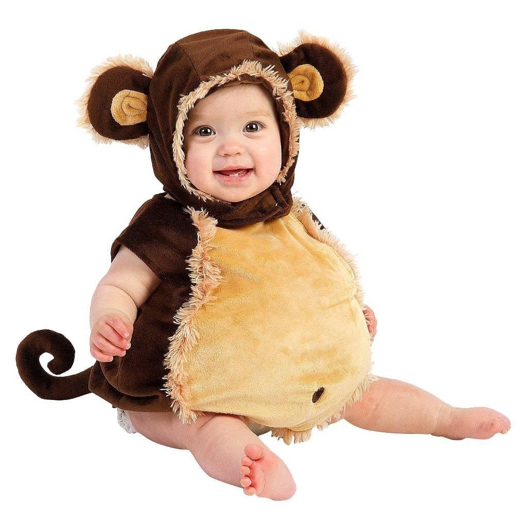 infant kids' mischievous monkey costume ($33) | kids' halloween