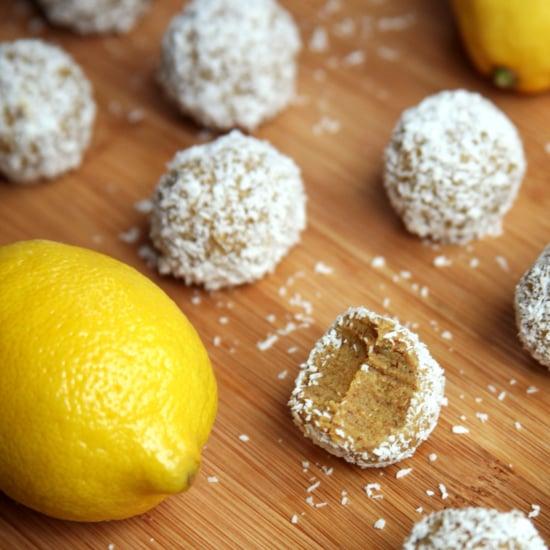 Rezept für Protein Balls aus Zitronen und Kokosnuss