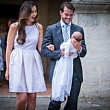 The new mom glowed at her daughter's christening. Her second child, Prince Liam, was born in 2016.