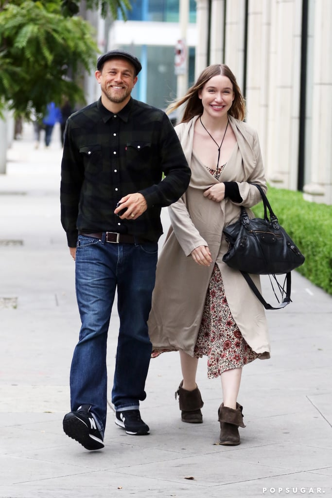 "Charlie Hunnam was all smiles alongside his girlfriend, Morgana McNelis, when the pair stepped out in LA on Saturday. The couple couldn't have looked happier as they shopped for furniture together, and their cute outing came just a week after Morgana shared a snap of their UFC date night. Charlie and Morgana have had more than a few sweet moments together through the years, and he's said plenty of thoughtful things about her, calling her his ""loyal and supportive partner."" Keep reading to check out more pictures of their weekend outing, then see Charlie's superhot Hollywood evolution plus his sexiest moments on Sons of Anarchy."