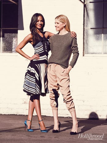 Zoe Saldana and Petra Flannery