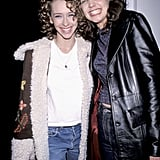Katie Holmes rang in the new year with Jennifer Love Hewitt at MTV's New Year's Eve party in January 1999.