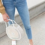 Risa Straw Circle Handbag