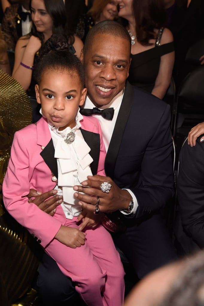 Blue Ivy Wearing Pink Gucci Suit At Grammys 2017