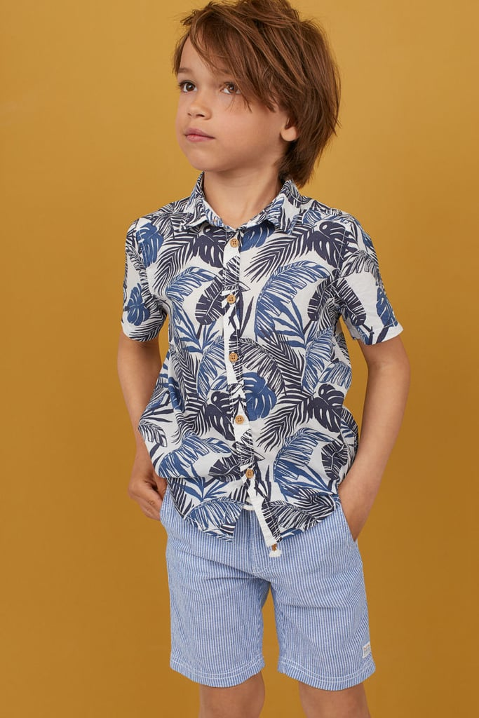 6f9e814dd H&M Patterned Cotton Shirt | Cheap Summer Clothes For Kids ...