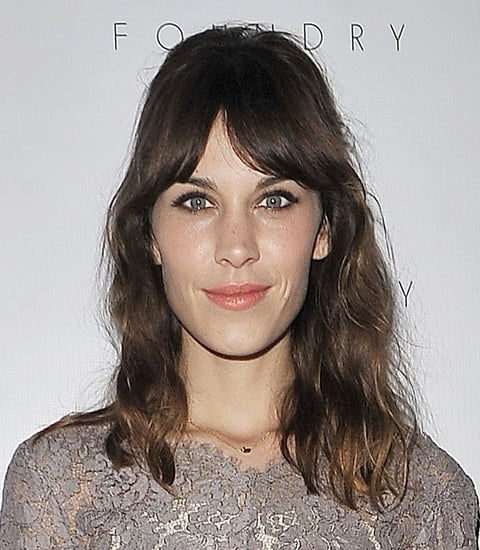 Get the Look: Alexa Chung's Peach Lip and Fringe and the Foundry LA Opening
