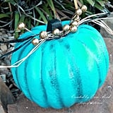 Blue and Teal With Silver Accents Pumpkin