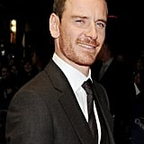 Michael Fassbender shot the camera a handsome look at the 2011 London Film Festival.