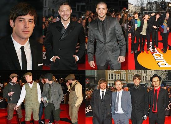 Brits Awards 2008: Men's Red Carpet