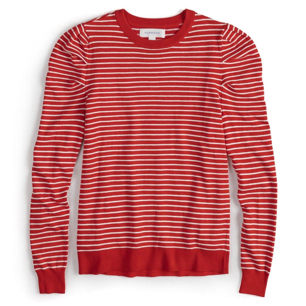 82da720c36a Striped Puff-Sleeve Sweater