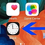 The hands of the clock app icon actually move and tell the right time.